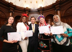 EPIC Programme Graduation Ceremony 2012. Clients with Minister for Justice, Equality and Defence Alan Shatter