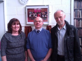Photo at opening of Rosmini Library