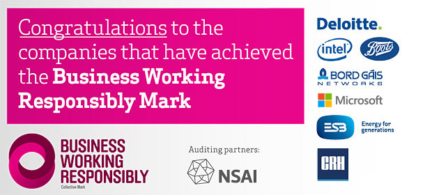 Congratulations to the companies that have achieved the Business Working Responsibly Mark