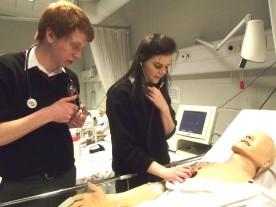 EMF Rosses CS Career Day hand on in Nursing Faculty