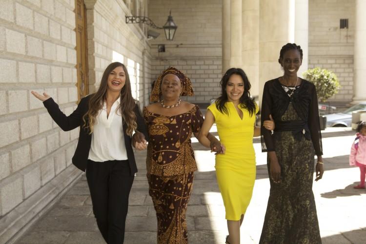 Diana Albanas(Romania), Miriam Burungi Omoro (Uganda), Yoselin Silva (Venezuela) and Christine Akullu Omodo (Uganda).