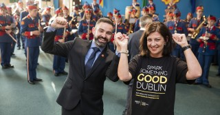 Pictured left is Keith Kelly, General Manager of the Artane School of Music, home of the Artane Band, with Peggie Moore, M&S Dundrum Store Manager.  M&S volunteers completed a renovation of the performance hall.