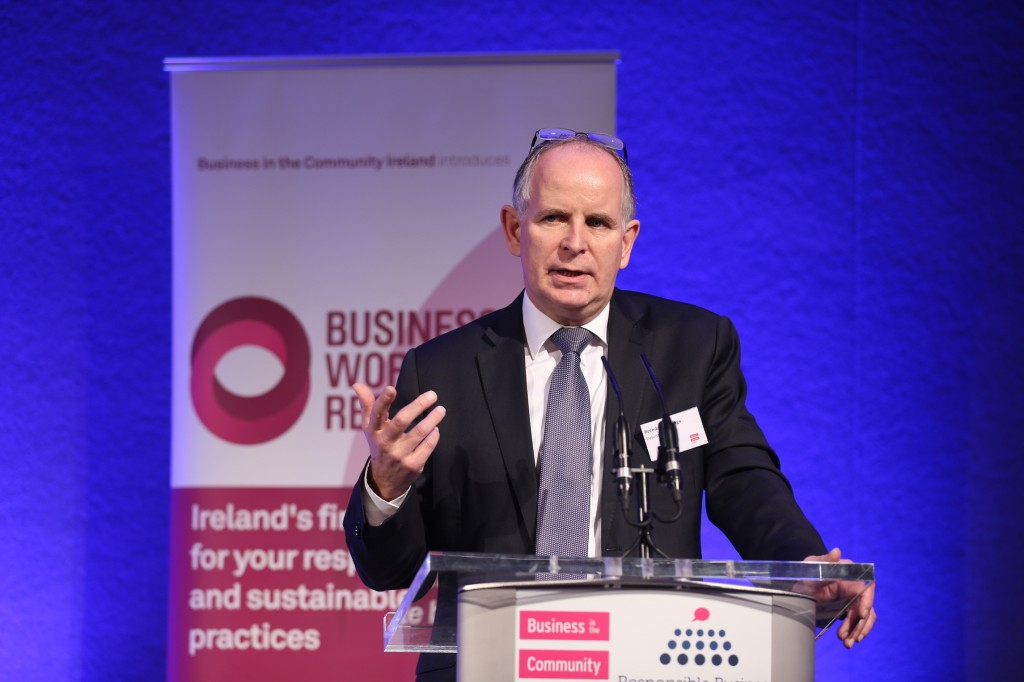 Pictured Brendan Jennings Managing Partner Deloitte addressing the BITCI CEO Forum in 2014