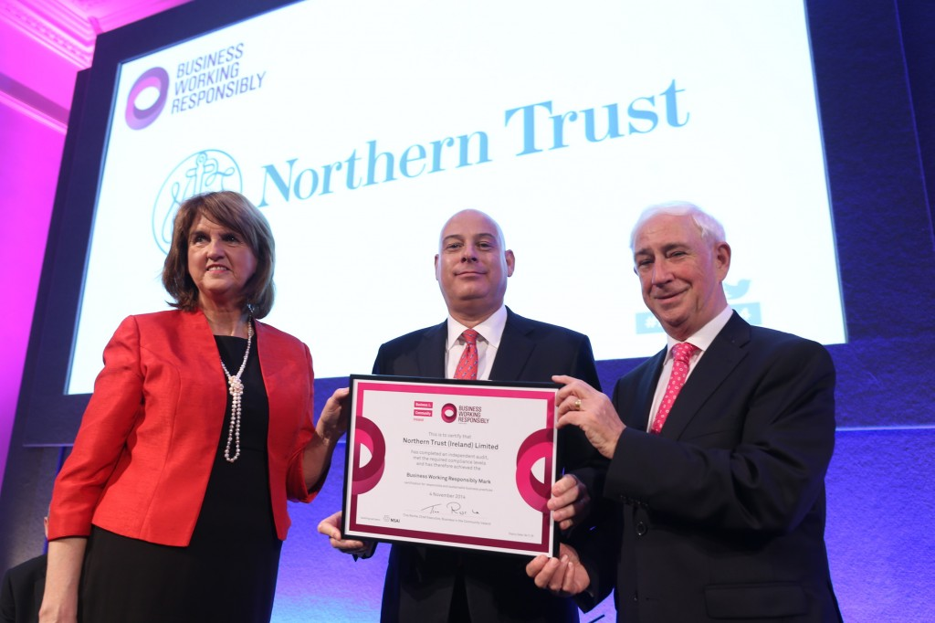 Pictured Tanaiste Joan Burton, Clive Bellows Country Head Northern Trust and Kieran McGowan Chairman BITCI.