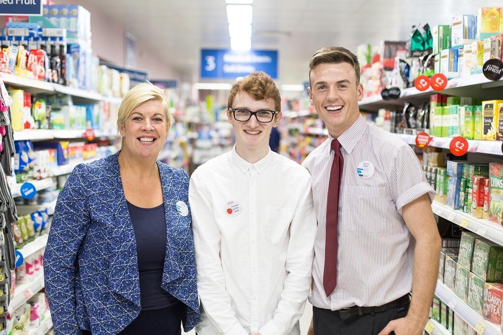 Rachael Garton, Store Manager Tesco Fleet Street, Leon, Career LEAP participant and Dean, Assistant Manager, August 2016