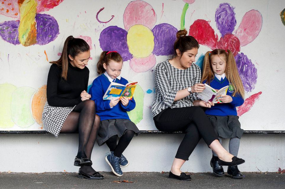 ESB volunteers read with children from St. Mary's NS, Fairview, Dublin 3