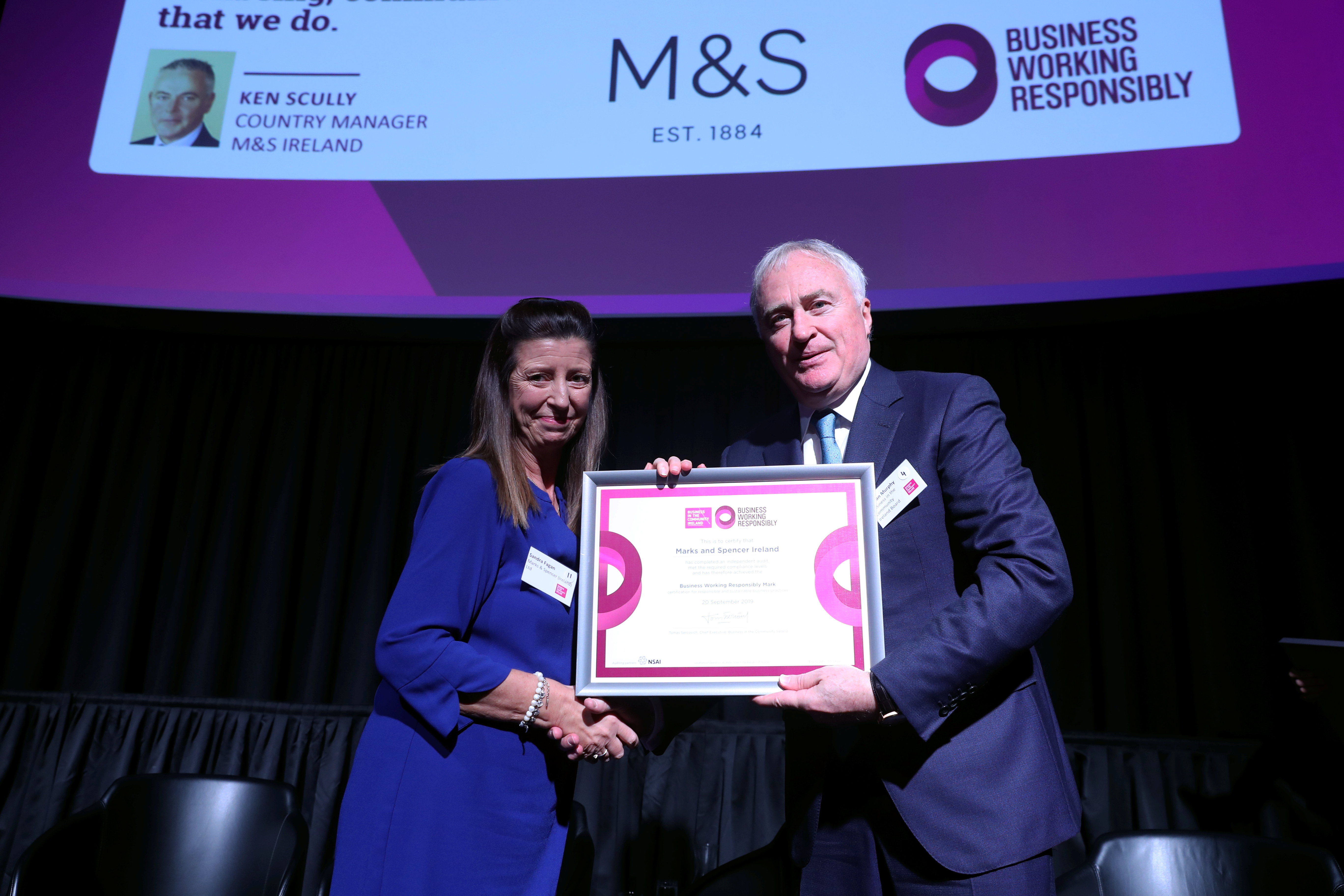 Sandra Fagan M&S Business Working Responsibly mark